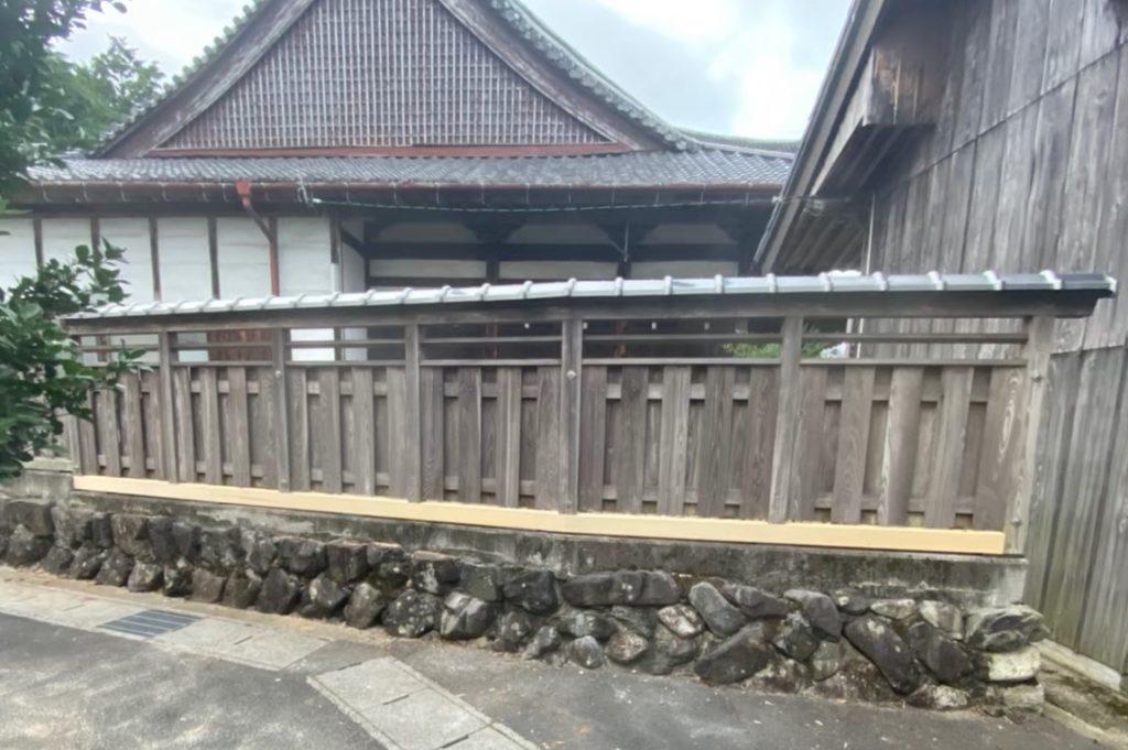 H寺 土台取り換え 外壁工事
